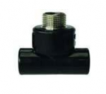 HDPE Fusion Brass Male Threaded Tee